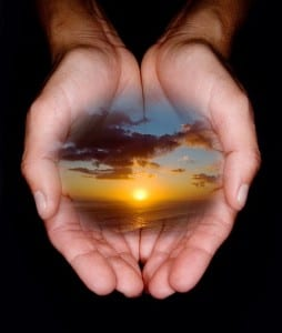 Hands holding oneness